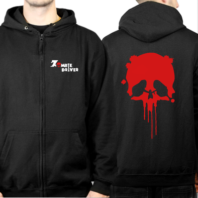 Zombie Driver - Skull Full Zip Hooded Sweatshirt, [product_type) - Fretshirt.com