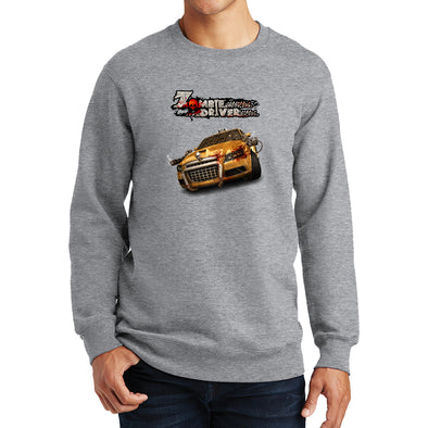 Zombie Driver - Taxi Front Sweatshirt, [product_type) - Fretshirt.com