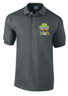 Irish Sports Tricolour Flag Embroidered Polo Shirt