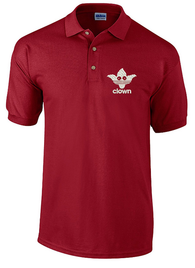 Sports Clown Embroidered Polo Shirt, [product_type) - Fretshirt.com