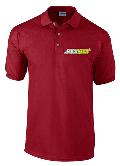 F**k Yeah Embroidered Polo Shirt - Fretshirt.com