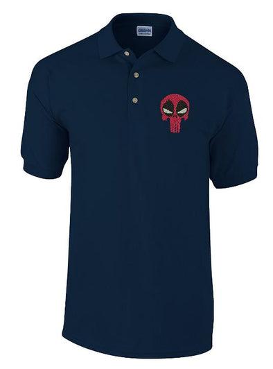 Dead Pool Punisher Embroidered Polo Shirt - Fretshirt.com