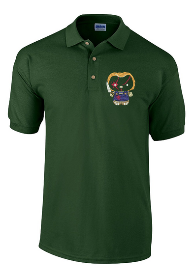 Hello Chucky Kitty Embroidered Polo Shirt