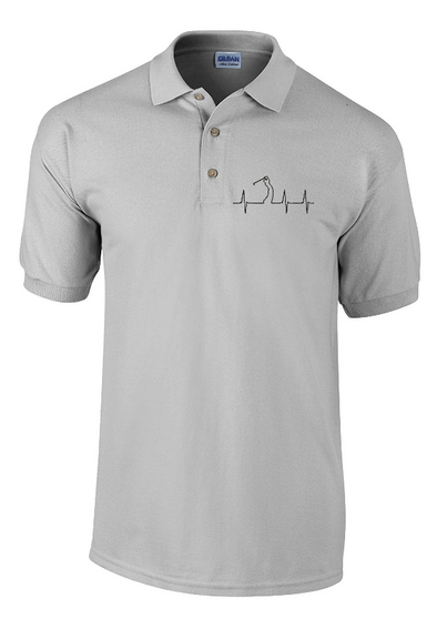 Golf Heartbeat Embroidered Polo Shirt - Fretshirt.com