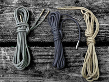 Black Boot Laces *Guaranteed for Life* 3mm Paracord Steel Tip Shoelaces - Mad Dog Laces