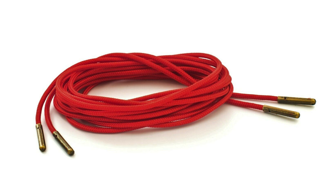 Red Boot Laces *Guaranteed for Life* 3mm Paracord Steel Tip Shoelaces - Mad Dog Laces