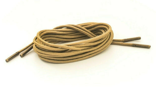 Coyote Brown Boot Laces *Guaranteed for Life* 3mm Paracord Steel Tip Shoelaces - Mad Dog Laces
