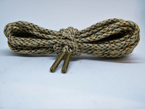 Desert Camo Boot Laces *Guaranteed for Life* 550 Paracord Steel Tip Shoelaces - Mad Dog Laces