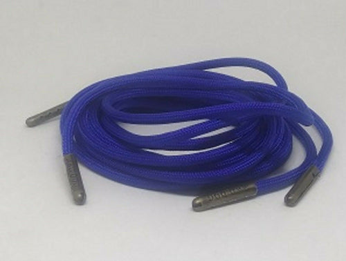 Neon Blue Boot Laces *Guaranteed for Life* 550 Paracord Steel Tip - Mad Dog Laces