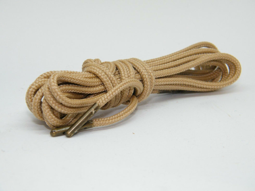 Desert Tan Bootlaces *Guaranteed for Life* 3mm Paracord Steel Tip Shoelaces