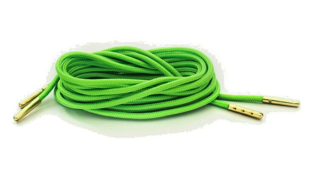 Neon Green Boot Laces *Guaranteed for Life* 3mm Paracord Steel Tip Shoelaces - Mad Dog Laces
