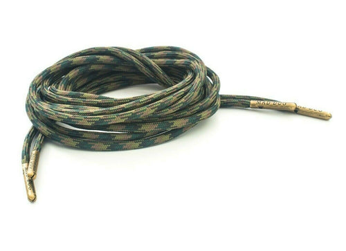 Woodland Camo Boot Laces *Guaranteed for Life* 550 Paracord Steel Tip - Mad Dog Laces