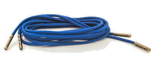 Neon Blue Boot Laces  3mm Paracord Steel Tip Shoelaces - Mad Dog Laces
