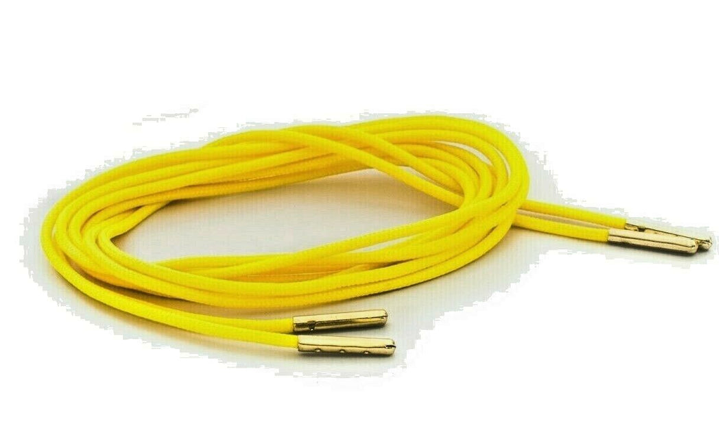Neon Yellow Boot Laces *Guaranteed for Life* 3mm Paracord Steel Tip Shoelaces - Mad Dog Laces