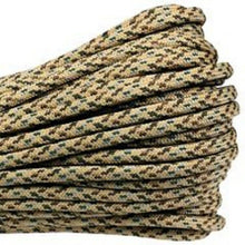 Desert Camo Boot Laces *Guaranteed for Life* 3mm Paracord Steel Tip Shoelaces - Mad Dog Laces
