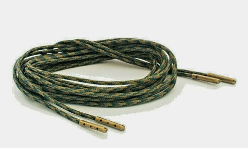 Woodland Camo Boot Laces  3mm Paracord Steel Tip Shoelaces - Mad Dog Laces