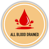 Blood Drained after the slaughter
