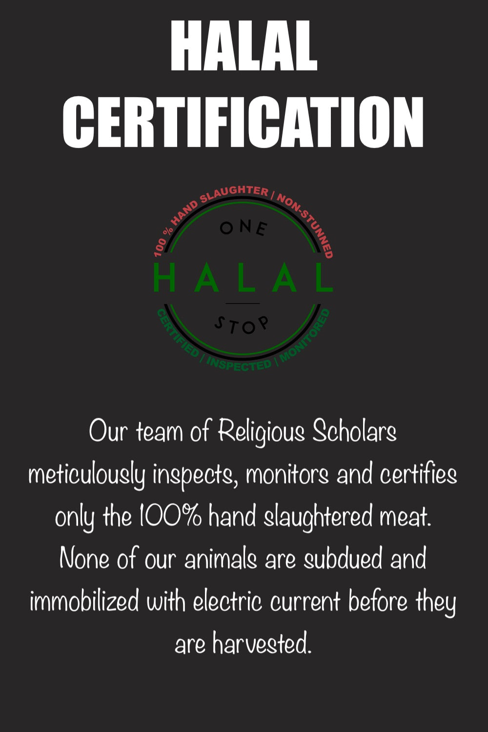 Halal Certification Fresh meat Banner