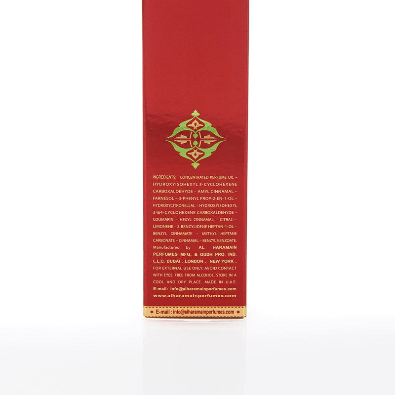 Al Haramain Sultan Concentrated Perfume Oil - Ingredients
