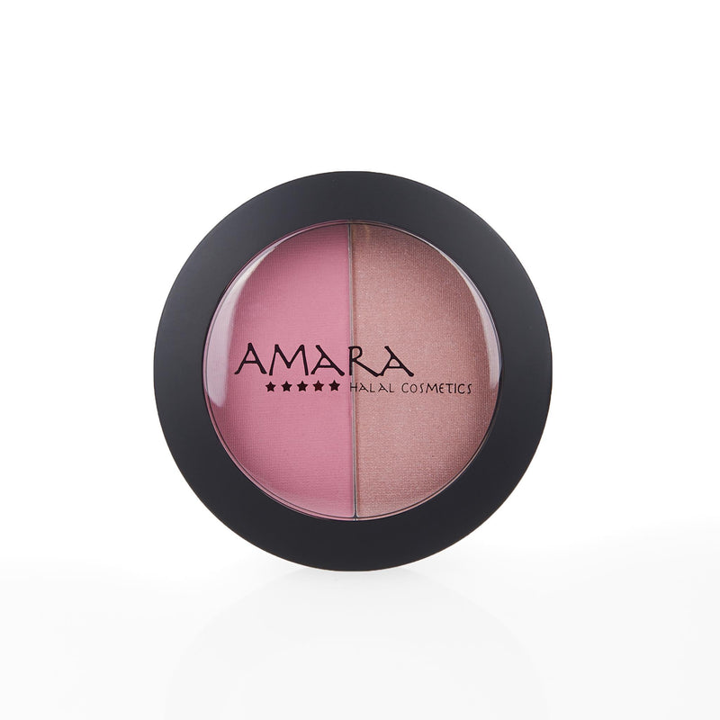 Amara Press Blush & Bronzer - Pink Porcelain Closed