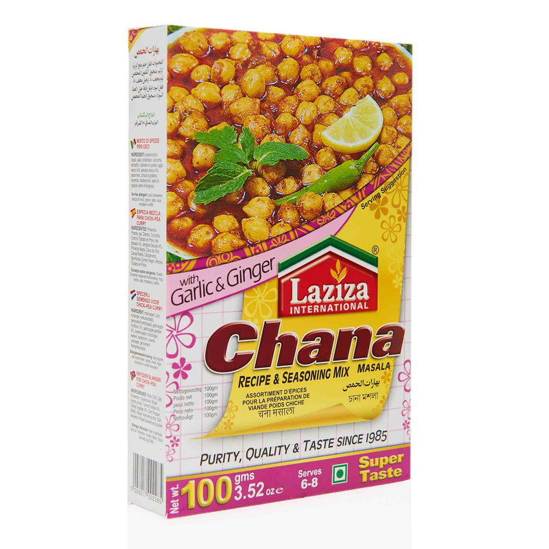 Laziza Chana Masala Recipe Mix - Front