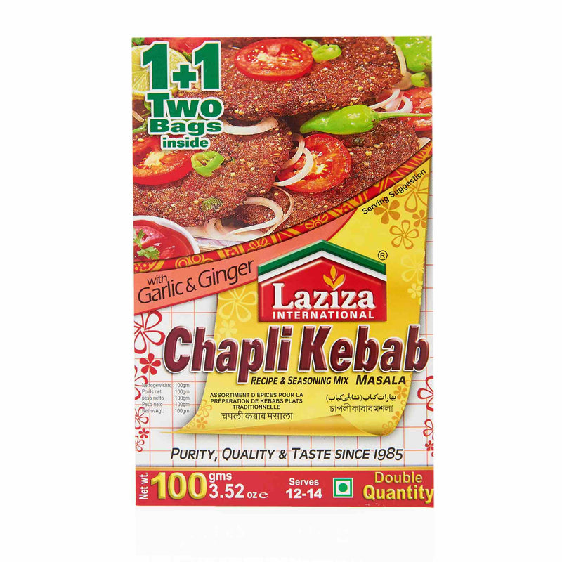 Laziza Chapli Kebab Recipe Mix - Main