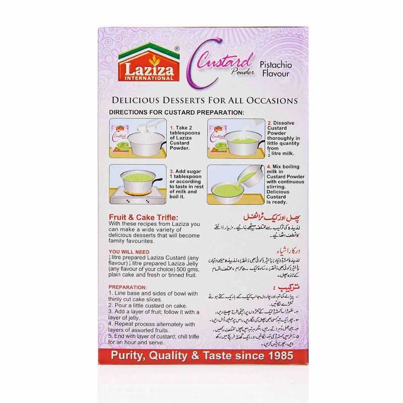 Laziza Pistachio Custard Powder - Directions