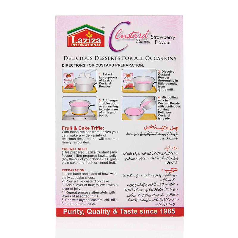 Laziza Strawberry Custard Powder - Directions