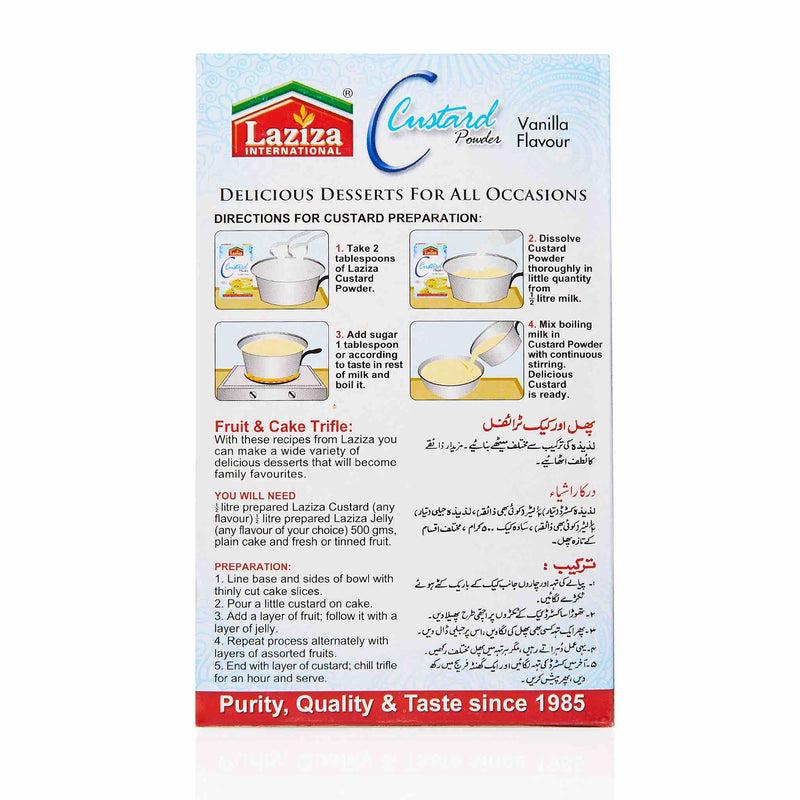 Laziza Vanilla Custard Powder - Directions