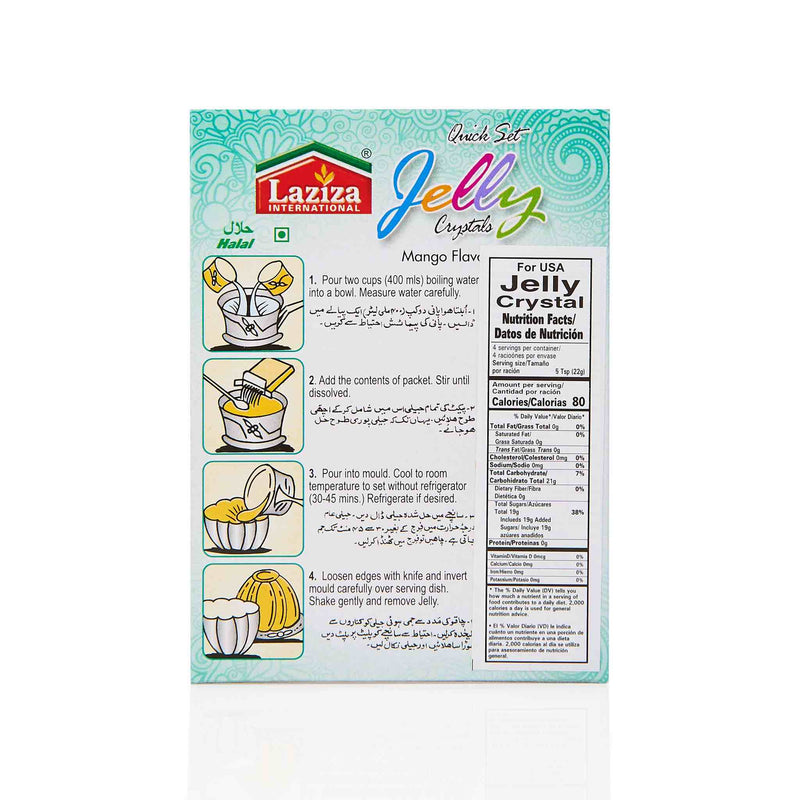 Laziza Mango Jelly Crystals - Directions