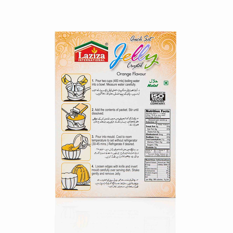 Laziza Orange Jelly Crystals - Directions