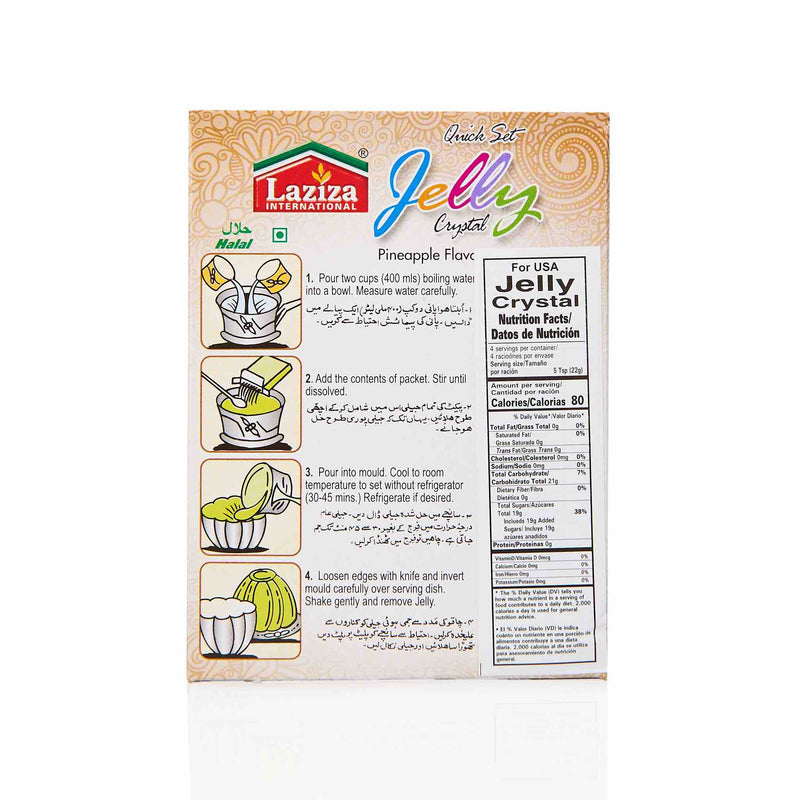 Laziza Pineapple Jelly Crystals - Directions