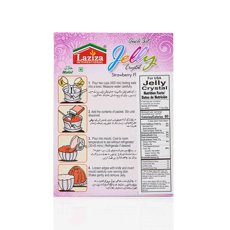 Laziza Strawberry Jelly Crystals - Directions