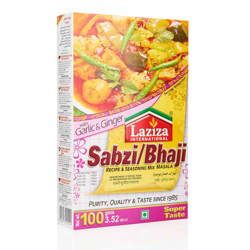 Laziza Sabzi Bhaji Recipe Mix - Front