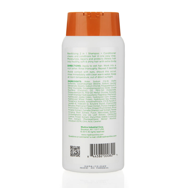 Madina 2 in 1 Shampoo and Conditioner - Ingredients