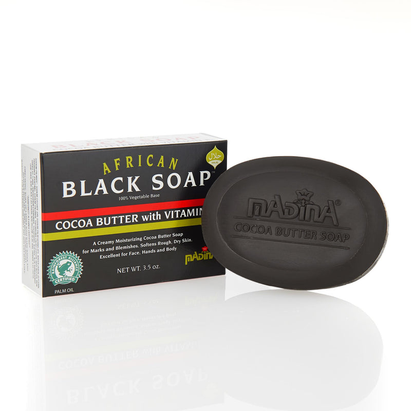 Madina Halal African Black Soap with Cocoa Butter - Main