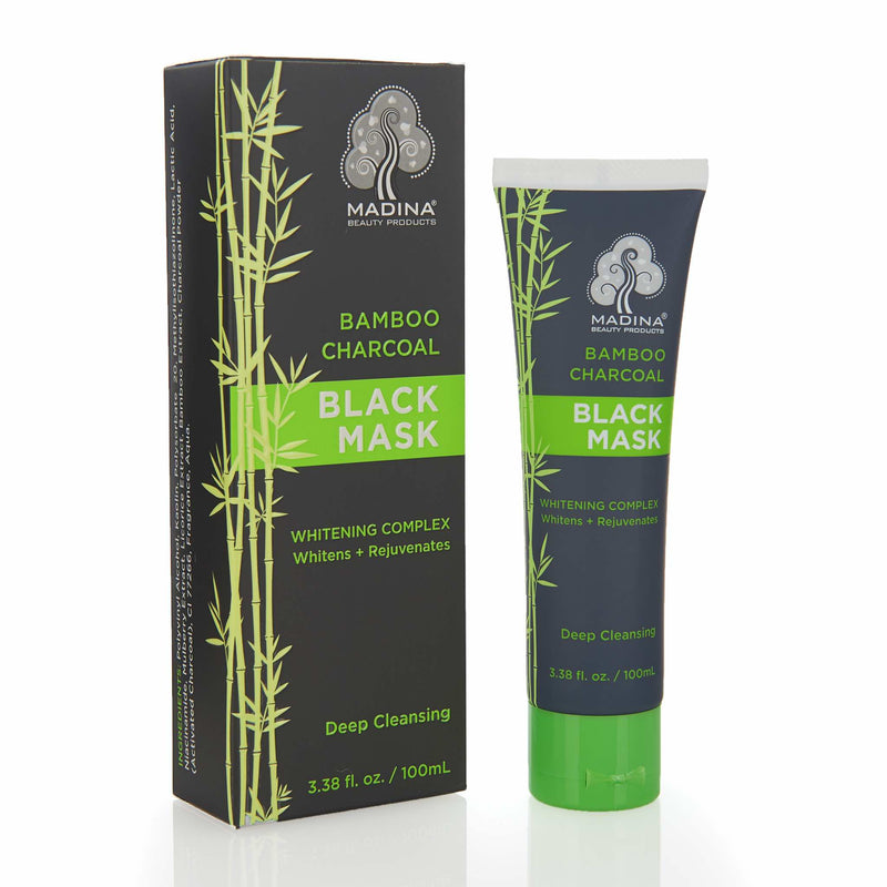 Madina Halal Bamboo Charcoal Whitening Facial Mask - Main