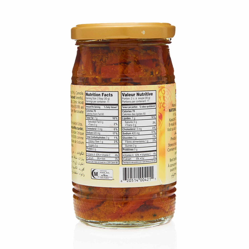 National Carrot Pickle - Nutrition
