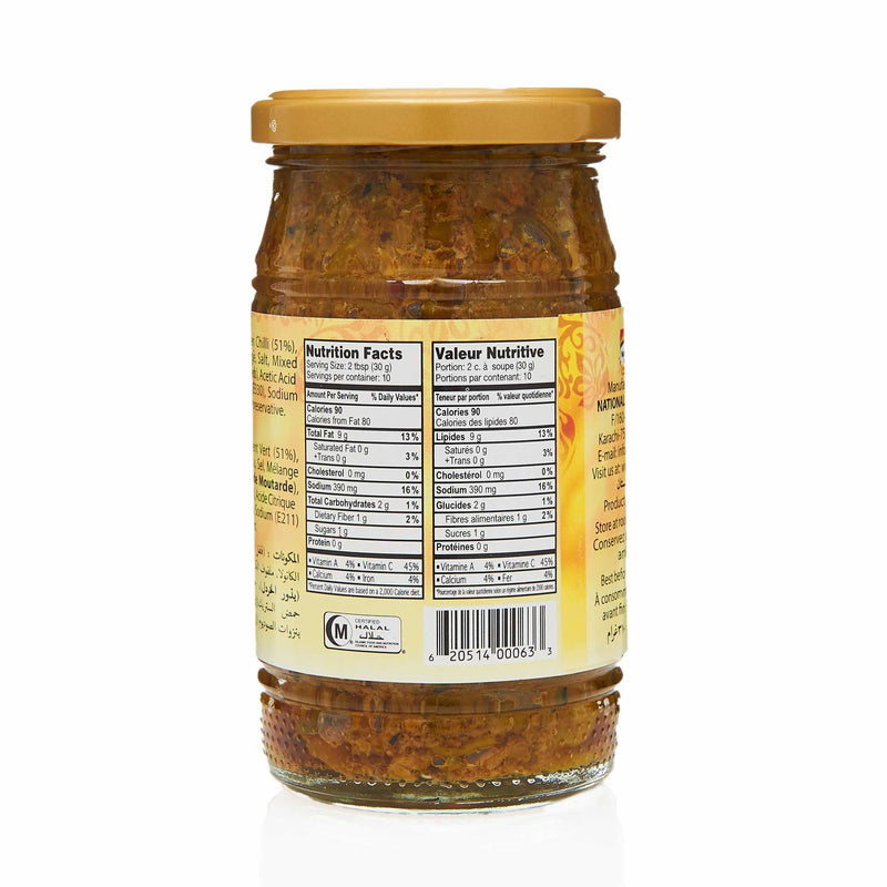 National Chilli Pickle - Nutritional Facts