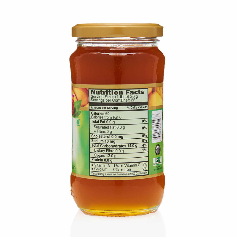 National Mango Jam - Nutritional Facts