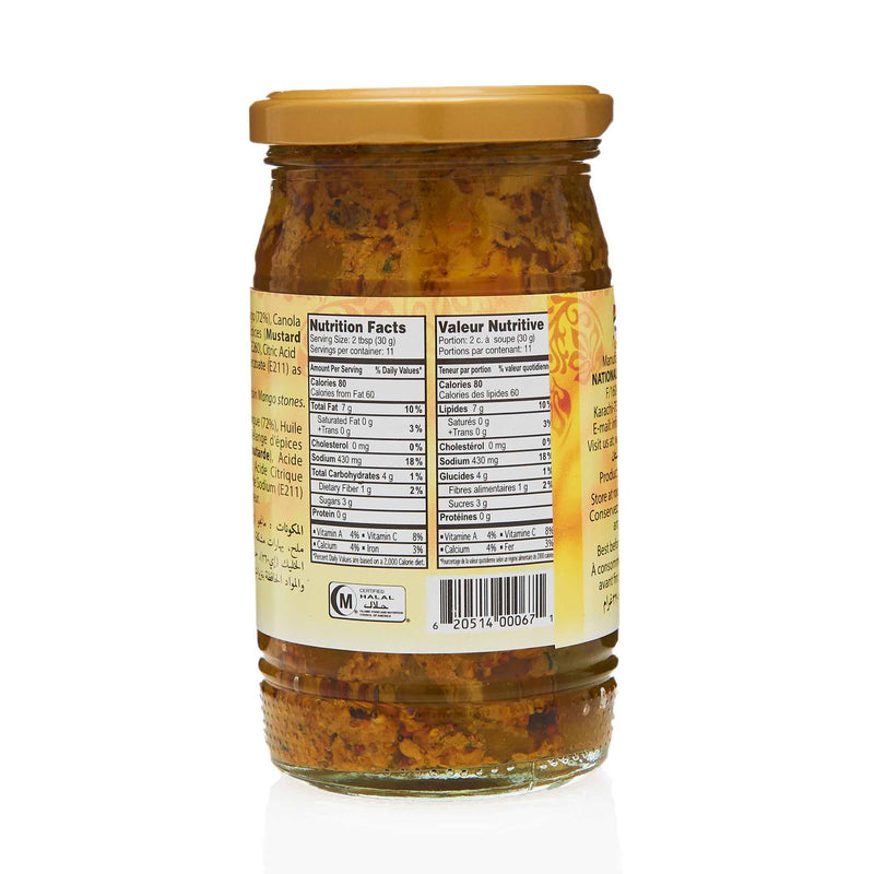 National Mango Pickle - Nutrition