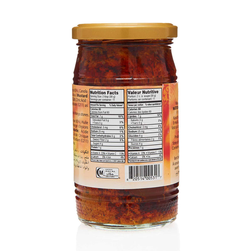 National Extra Hot Mango Pickle - Nutrition