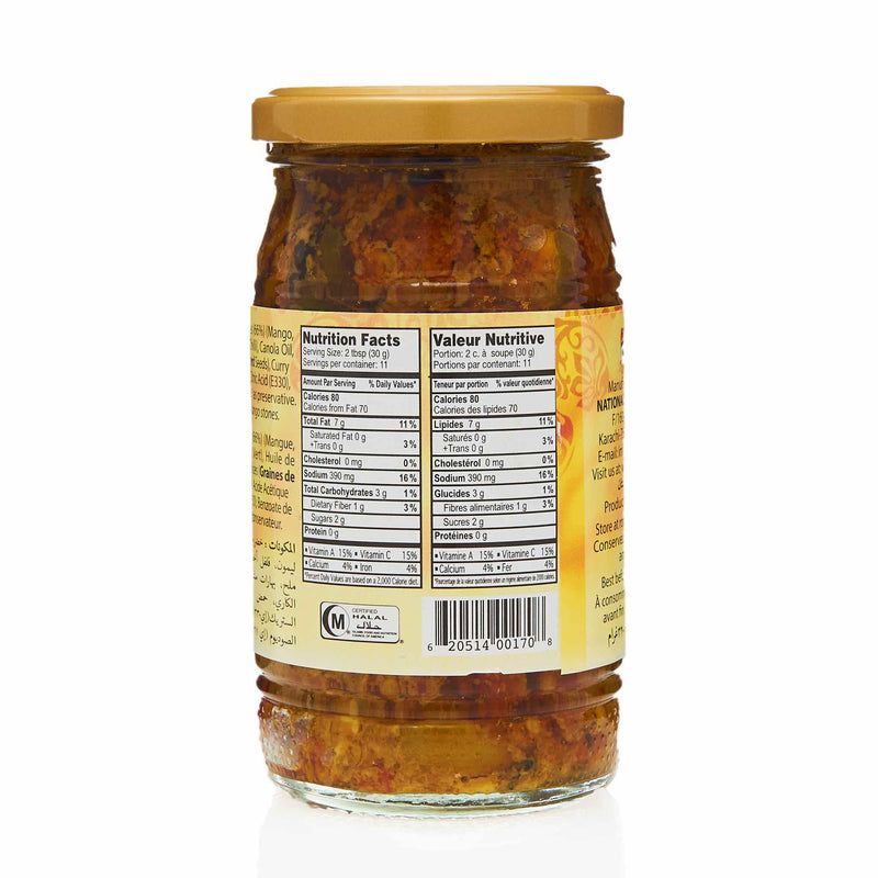 National Hyderabadi Mixed Pickle - Nutrition
