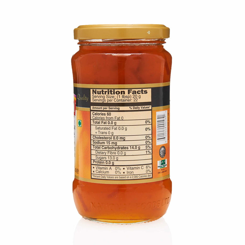 National Orange Marmalade Jam - Nutritional Facts