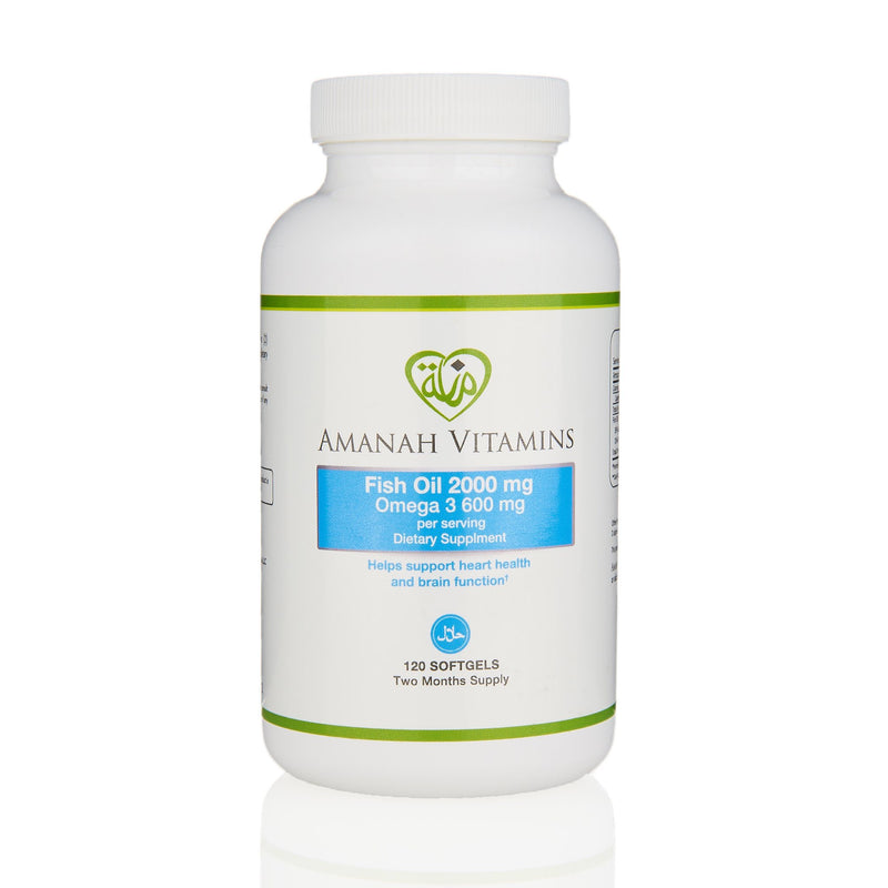 Amanah Vitamins Omega 3 Fish Oil - Front