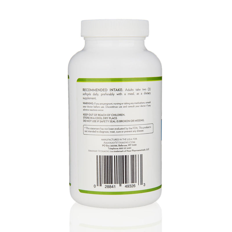 Amanah Vitamins Omega 3 Fish Oil - Ingredients