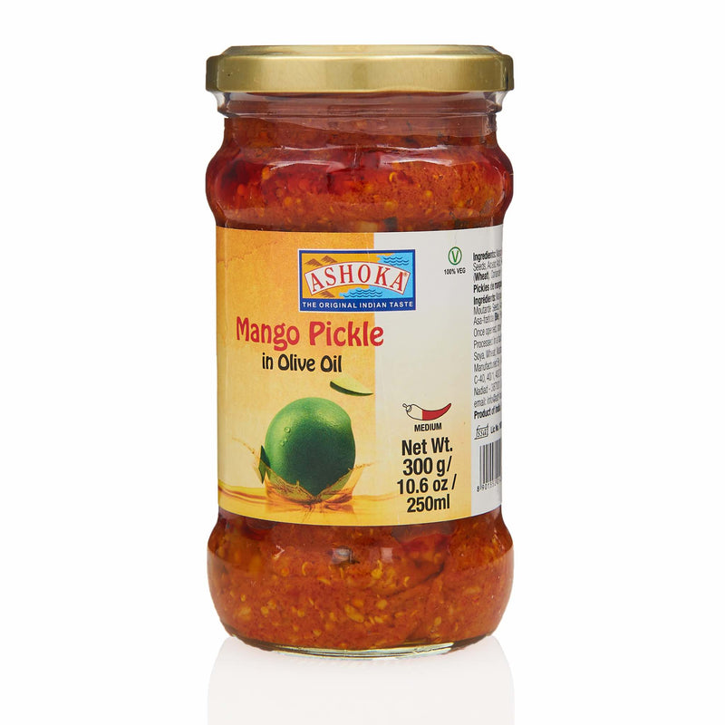 Ashoka Mango Pickle in Olive Oil - Front
