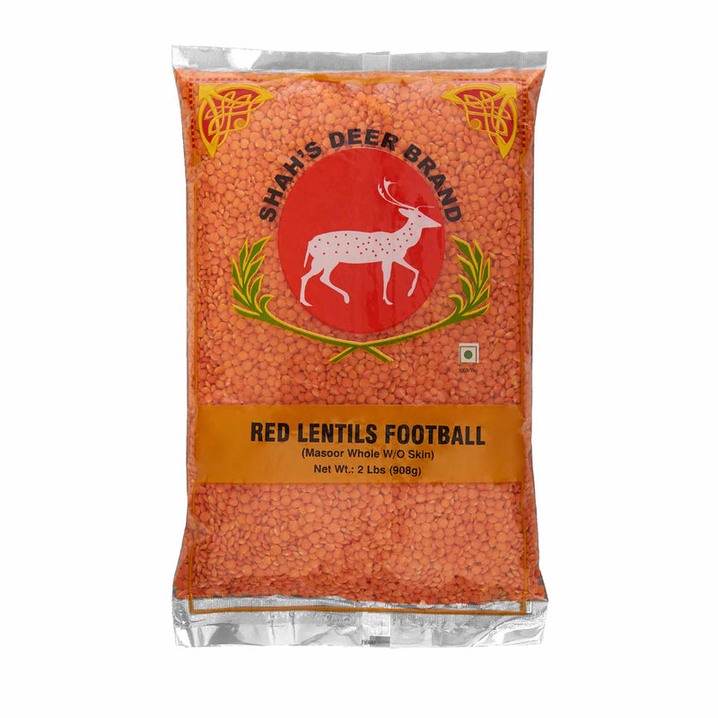 Deer Red Lentil Football Masoor - Front