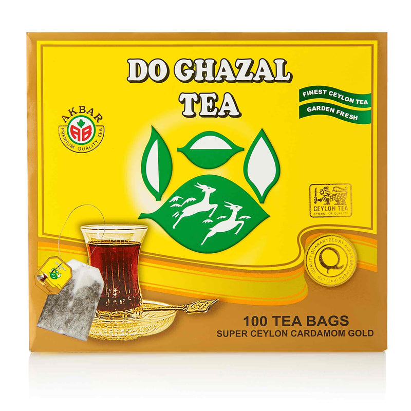 Do Ghazal Cardamom Black Tea Bags - Front