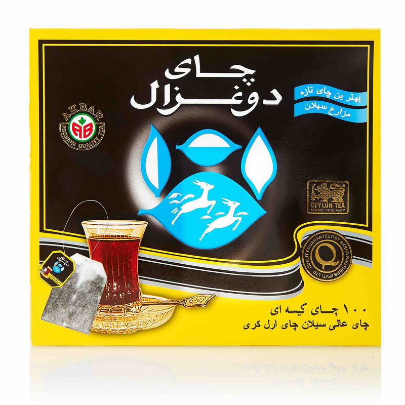 Do Ghazal Earl Grey Black Tea Bags - Front
